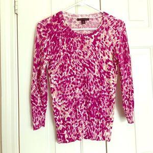 Pink leopard Banana Republic 3/4 sleeve top